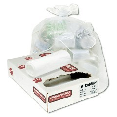"43x48"" 56gl 12mic High Density Trash Can Liners 200/cs"