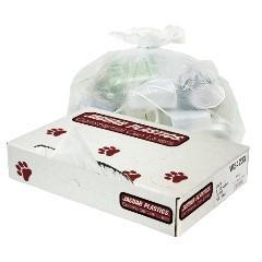 "43x47"" White .7 MIL LDPE Trash Bags Bulk Pack 100/cs"
