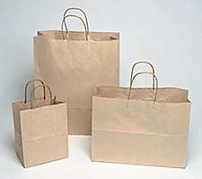 16x6x13 Brown Paper Shopping Bags - 250/cs