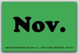 """2x3"""" November Rectangle Labels 500/rl"""