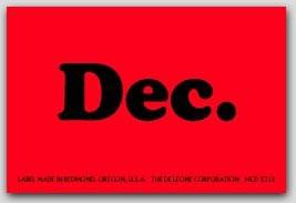 """2x3"""" December Rectangle Labels 500/rl"""