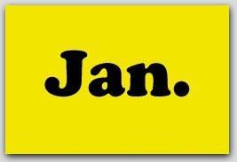 "2x3"" January Rectangle Labels 500/rl"