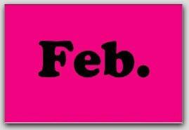 """2x3"""" February Rectangle Labels 500/rl"""