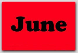 "2x3"" June Rectangle Labels 500/rl"