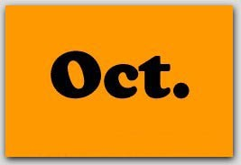 "2x5"" October Rectangle Labels 500/rl"