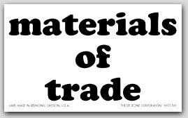"""3x5"""" Materials of Trade Paper Labels 50 Labels per Pkg"""