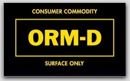 "1-1/2x2-1/2"" Labels ORM-D Surface Only 1000/rl"