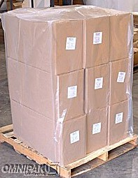 "52x48x73"" 3mil Clear Pallet Covers / Bin Liners 50/rl"