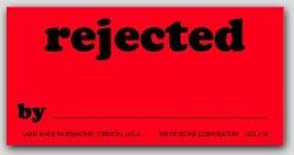 "1-1/4x2-1/2"" Rejected Labels 1000/rl"