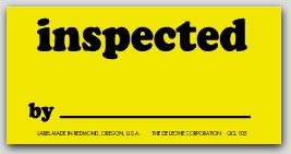 """1-1/4x2-1/2"""" Inspected Labels 1000/rl"""