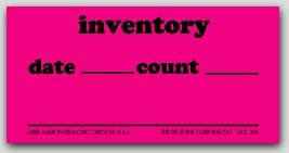"1-1/4x2-1/2"" Inventory Date and Count Labels 1000/rl"