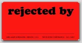 """1x2"""" Rejected By Labels 1000/rl"""