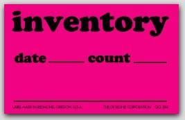 """2-1/2x4"""" Inventory Date and Count Labels 500/rl"""
