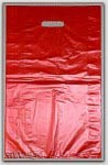"12x3x18"" Red HDPE Merchandise Bags 500/cs"