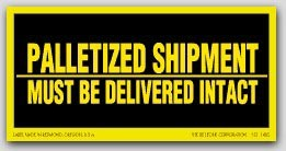 "3x6"" Must Be Delivered Intact Shipping Labels 250/rl"