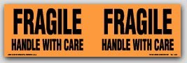 """3x10"""" Handle with Care Fragile Labels 250/rl"""