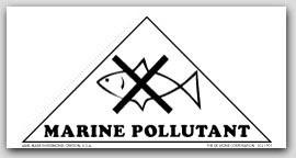 "3-13/16x3-13/16x5-3/8"" Vinyl Labels Marine Pollutant 500/rl - 2rl/pkg."