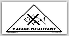 "10-3/4x10-3/4x15-1/8"" Vinyl Labels Marine Pollutant 50/pkg-sheeted"