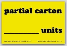"2x3"" Partial Carton Shipping Labels 500/rl"