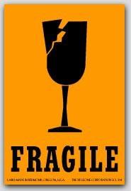"""2x3"""" Fragile Labels 500/rl"""