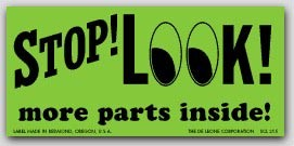 "2x4-1/2"" Stop Look More Inside Shipping Labels 500/rl"