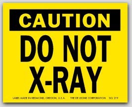 "2x2-1/2"" Do Not X-Ray Labels 500/rl"