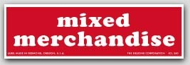 """1-1/2x5"""" Mixed Merchandise Shipping Labels 500/rl"""