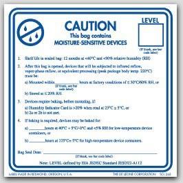 """3x3"""" Caution Moisture Sensitive Devices Labels 500/rl"""