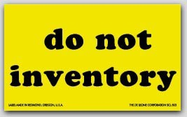 "3x5"" Do Not Inventory Shipping Labels 500/rl"