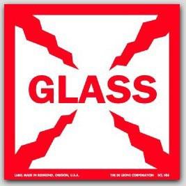 """4x4"""" Glass Labels 500/rl"""