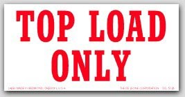 """3x6"""" Top Load Only Shipping Labels 500/rl"""