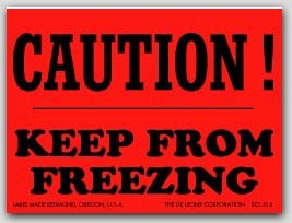 """3x4"""" Caution Keep From Freezing Labels 500/rl"""