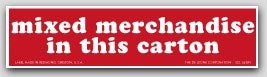 """1-1/2x6"""" Mixed Merchandise Shipping Labels 500/rl"""