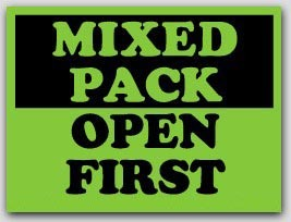 """3x4"""" Mixed Pack Open First Shipping Labels 500/rl"""