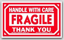 """3x5"""" Handle with Care Fragile Labels 500/rl"""