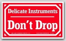 "3x5"" Delicate Instruments Don't Drop Labels 500/rl"