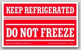 """3x5"""" Refrigerate Do Not Freeze Labels 500/rl"""