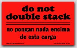 "3x5"" Do Not Double Stack Labels 500/rl"