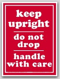 "3x4"" Keep Upright Do Not Drop Labels 500/rl"