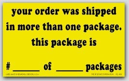 "3x5"" More Than One Package Shipping Labels 500/rl"