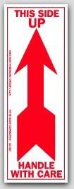 """2-1/2x7"""" Arrow Up Arrow Labels 500/rl"""