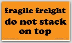 """4x7"""" Freight Do Not Stack On Top Fragile Labels 500/rl"""