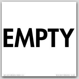 """6x6"""" Empty Paper Labels 500/rl"""