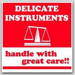 """6x6"""" Fragile Delicate Instruments Labels 500/rl"""
