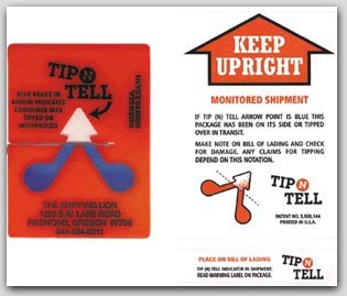 Tip N Tell Keep Upright Indicator 100-bx