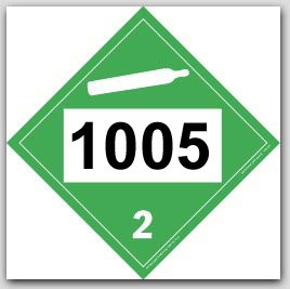 Printed UN1005 Ammonia, Anhydrous, Liquified Polycoated Tagboard Placards 25/pkg