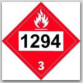 Printed UN1294 Toluene Polycoated Tagboard Placards 25/pkg