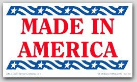"2x3-1/2"" Made In America Labels 1000/rl"