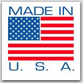 "1x1"" Made In The USA Labels 1000/rl"