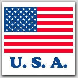 "4x4"" USA Labels 500/rl"